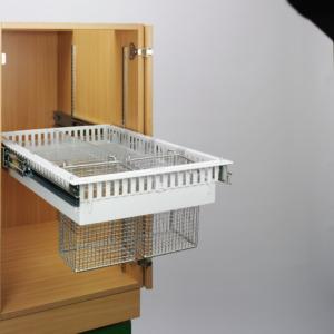 FullExtensionRunners with ISO frame for catheter basket